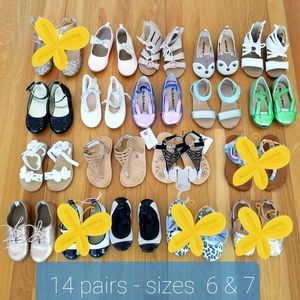 14 PAIRS! Girls Shoes and Sandals Bundle.